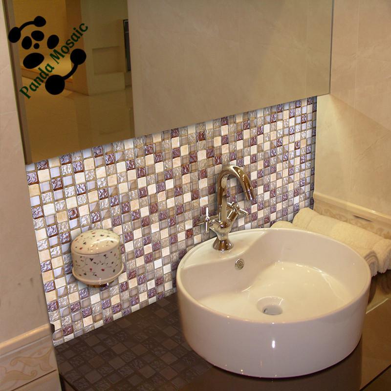 Wholesale Decorative Glass Stone Mosaic Wall Tile Mixed Mosaic ...