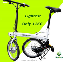 2015 New electric bicycle! The lightest Li-ion battery quick folding portable 11kg high quality folding cheap electric bike