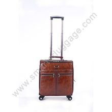Casual Leather Carry-on Suitcase Luggage