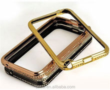 China Bling Shining Crystal Aluminum Diamond Metal Hard Bumper Frame Case for Samsung Note2 N7100,