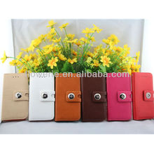 FL602 NO MOQ For iphone 5 leather wallet cover case pu case left right flip stand magnet inside case for iphone