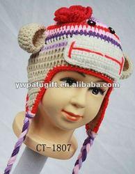 fashion design animal hat monkey crochet pattern