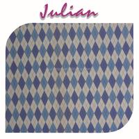nylon lingerie fabric blue diamond checks on white polyester milk fiber Spandex print fabric