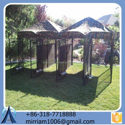 Low price New design or galvanized wire comfortable lowes dog kennels and runs with best quality