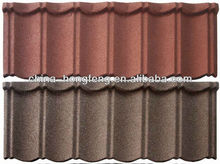 Colorful stone coated metal sheet roofing tiles