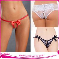 Wholesale Cheap Cotton Women Sexy Open Crotch Underwear G-string