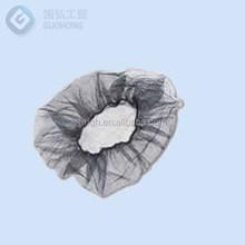 Disposable Mesh Hairnet, Nylon, Black, white