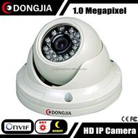 DONGJIA DJ-IPC-3133HD-POE onvif network vandalproof dome 720p ip remote operated camera