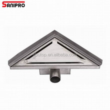 Fast flow 304 stainless steel material triangle floor drain