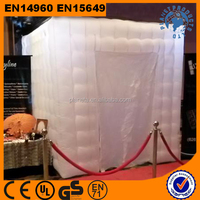 cheap white inflatable photo booth with one door