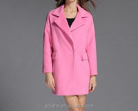 Spring autumn winter woolen overcoat for women fashion long trench coat