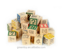 Wooden ABC/123 Building Blocks Set Alphabet Letters