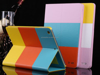Rainbow Flip Waterproof PU Leather case for iPad Air With Stand