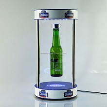 2015 Innovative Magnetic floating beer bottle/can acrylic display