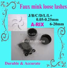 new products faux mink lashes loose bulk eyelash in jar or plastic bag407