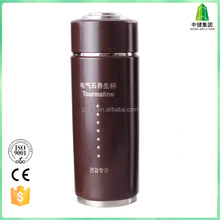 stainless steel easy drinking sports water bottle with Tourmaline