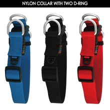 Premium Quality Nylon Dog Collar and Leash with Two-D-Ring