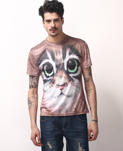 Quick dry t shirt for sublimation printing animal 3D printing shirts for man