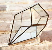 geometrical display case glass terrarium,geometric glass decoration ,terrarium miniature