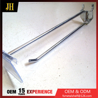 Metal Chrome Double Wire Wall Hook With Plastic Price Tag
