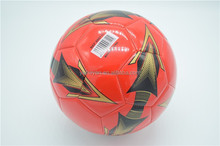 Professional official size PU football street soccer ball