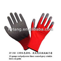 durable wrinkle produces friction high quality latex gloves