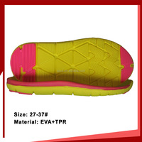 Girl's sport shoes TPR outsole Colourful EVA+TPR sole for kids