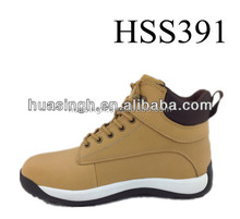honey nubuck high quality leather ankle active abrasion resistant safety sport shoes