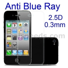 Benks 0.3mm 2.5D Arc Edge Anti Blue Ray Tempered Glass Film for iPhone 4S 4