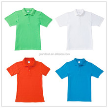 Printing your team logo 100% cotton made in Guangzhou shirt polo
