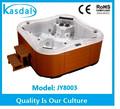 Forma de mariposa 6 persona al aire libre bañera de hidromasaje caliente/bañeras de hidromasaje jy8003