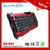 Macro usb led gaming keyboard, tri-color backlit gamer gaming keyboard