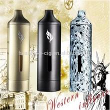 2015 incorporada en el tanque de agua portátil verdadero vaporizador falcon tabaco pen vaporizador