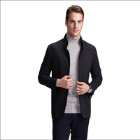 Custom Design Top Brand Latest Style Softshell Slim Fit Cashmere Wool Coat for Man