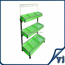 Three layers&Single sided Vegetable and fruit shelf,supermarket shelving rack