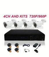 2015 Real Color Night Vision 4 CH 1080P AHD DVR 4*960 AHD Camera 4 ch dvr ahd kit