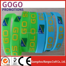 2015 new promotional premiums custom sports team silicone bracelets, High quality factory making silicone bracelet