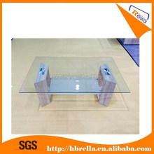 glass top MDF with paper leg coffee table