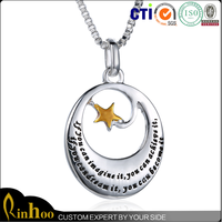 Wholesale Best Sale High Quality Cheap Two-Tone Silver Yellow Gold Inspirational Gifts Wholesale