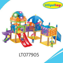72 PCS Plastic slide playset toys for children with music and light