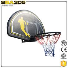 portable basketball backboard with breakaway rim