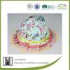BSCI Audit flower printed 100 cotton kids wholesale free pattern children bucket hat
