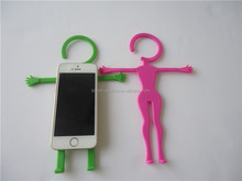 Silicone cell phone holder hanging handy bed or desktop