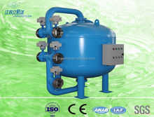 Shallow media filtration system water purification with PLC controller