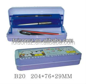 cute tin pencil case metal pencil box