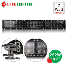 led truck light bar, High power off road 7w P.hilip led truck light bar