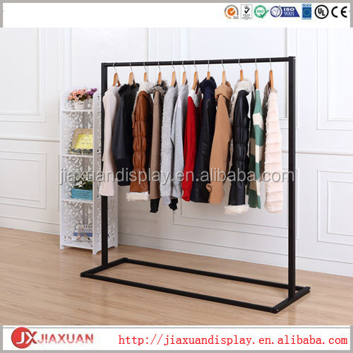 Black Metal Hanging Clothes Rack Black Clothing Displays