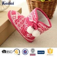 crochet knitting red flat bottom baby shoes 2013