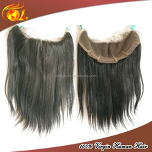 Wholesale Brazilian virgin remy hair natural hairline hair piece human hair lace frontal piece