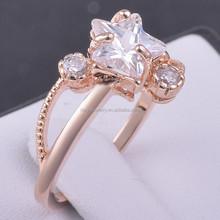 Fine Jewelry Copper Zircon Diamond Engagement Ring Wedding Ring